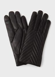 Louisa Leather Glove, Black, hi-res