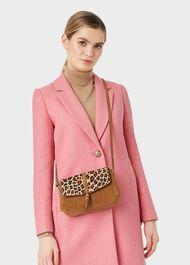 Bexley Suede Crossbody Bag , Leopard, hi-res