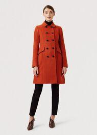 Dorothea Wool Blend Coat, Spice Orange, hi-res