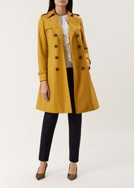 Saskia Trench Coat, Gold, hi-res