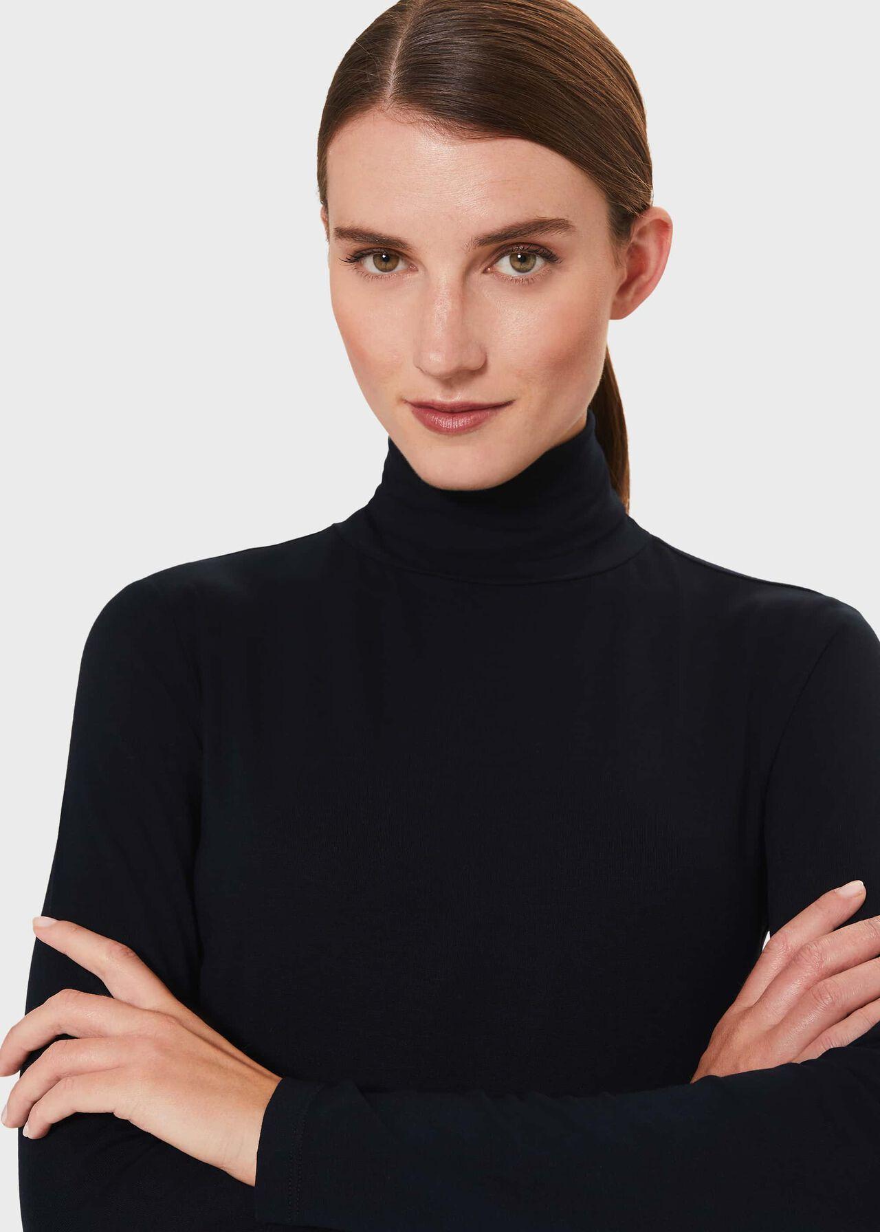 Mischa Roll Neck Sweater, Navy, hi-res