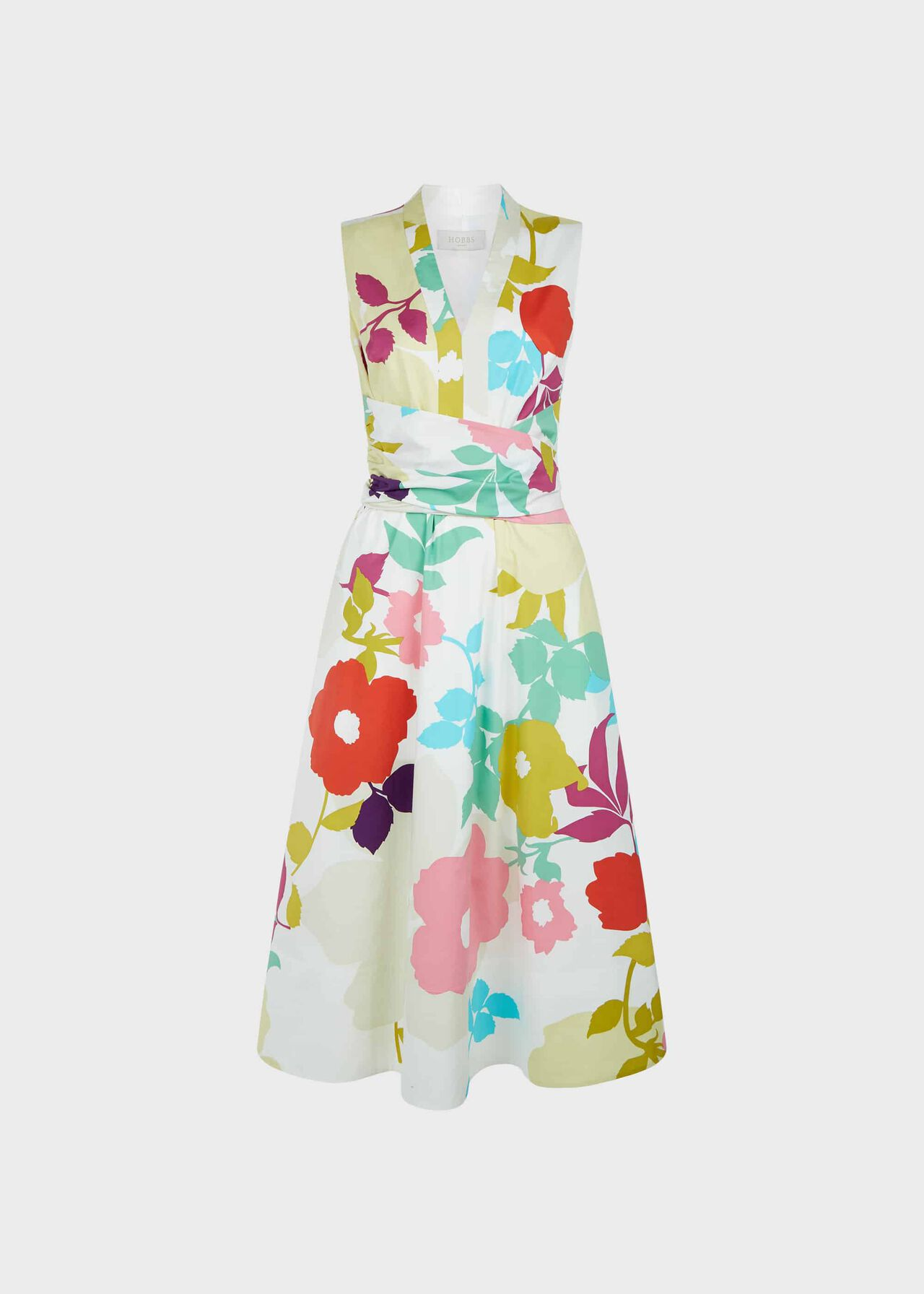Marie Floral Midi Dress White Multi