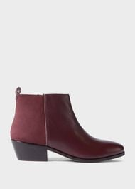 Alice Leather Ankle Boots, Wine, hi-res
