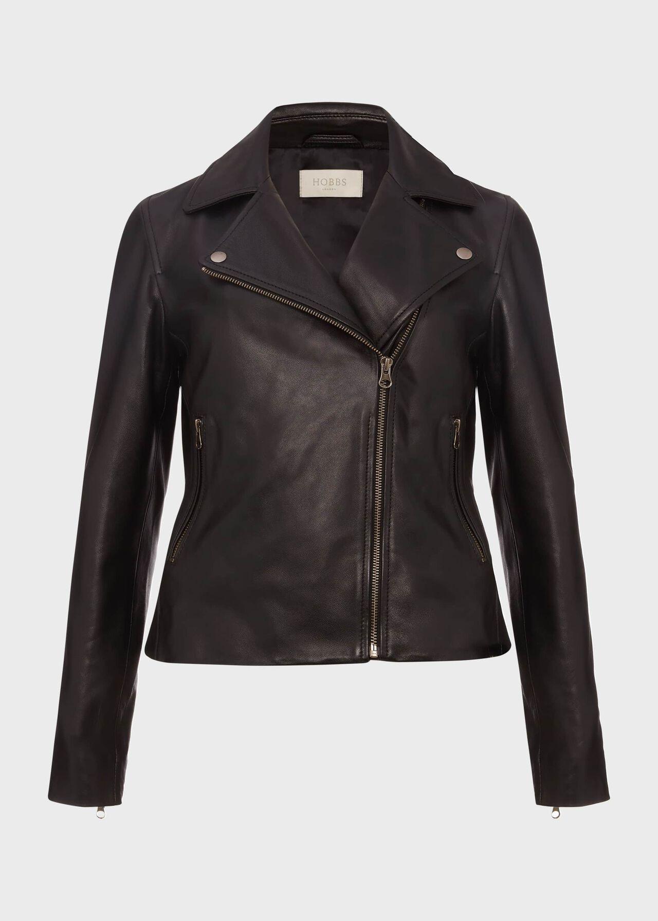 Tania Leather Jacket Black