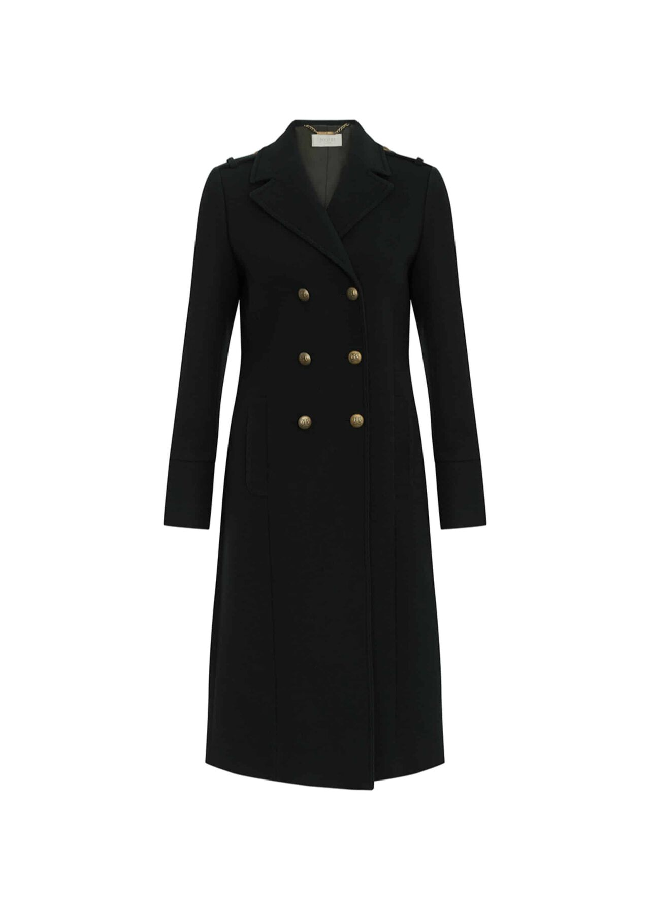 Bianca Wool Blend Coat Dark Green