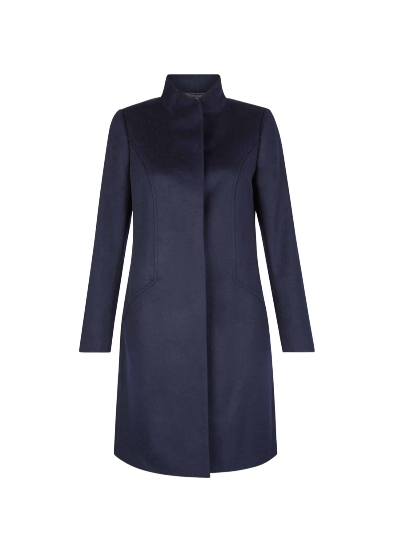 Mandy Wool Coat Navy