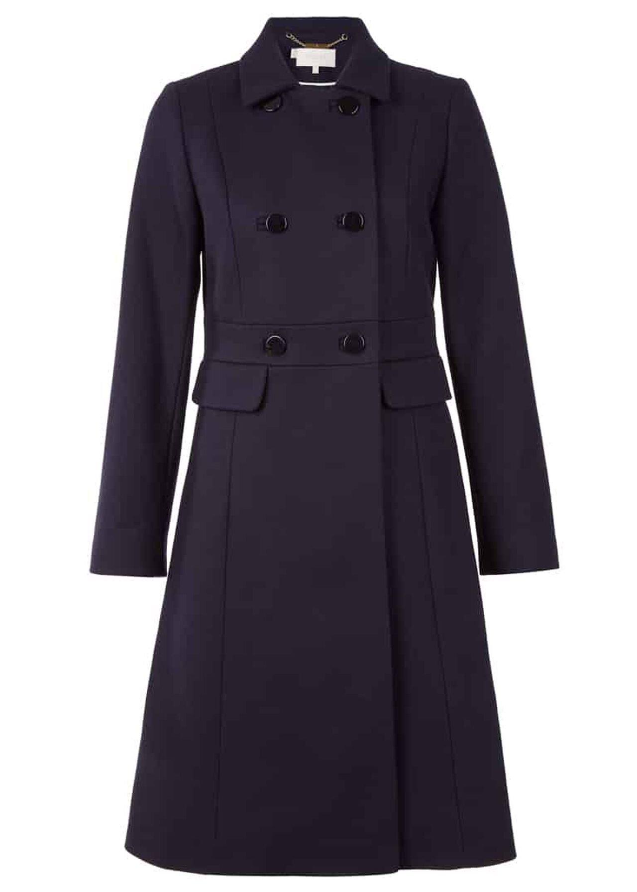 Petite Corrine Wool Blend Coat Navy