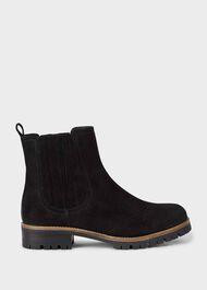 Beatrix Suede Ankle Boots, Black, hi-res