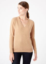 Bella Cashmere Sweater, Camel, hi-res