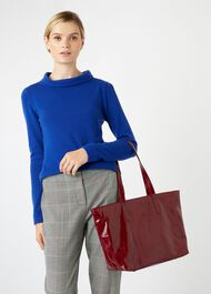 Gable Tote Bag, Burgundy, hi-res