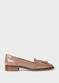 Bryony Patent Brogue Loafers, Toasted Almond, hi-res