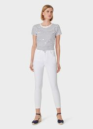 Marianne Denim 7/8 Jeans, White, hi-res