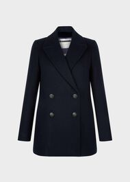 Fran Coat, Navy, hi-res