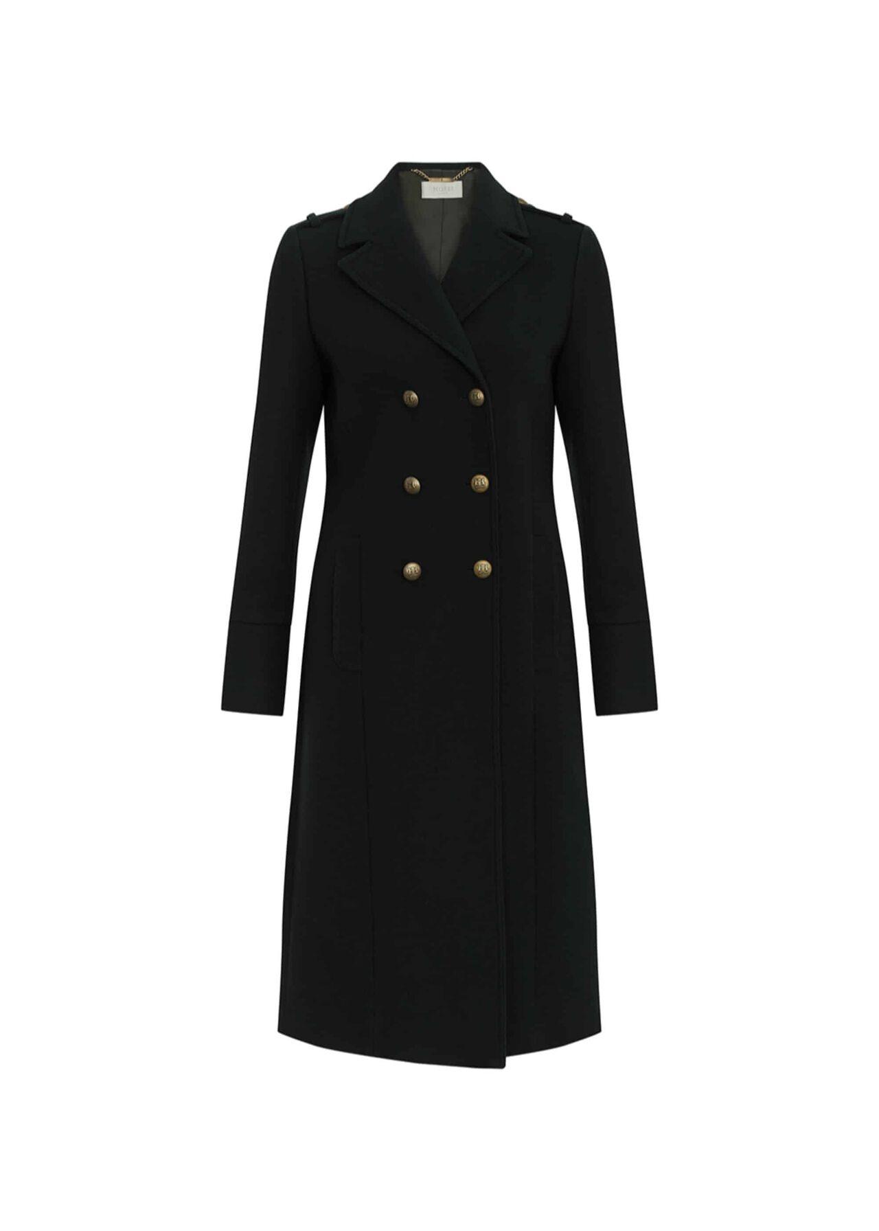 Bianca Wool Blend Coat Dark Green