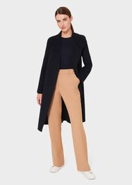 Camille Double Face Wool Blend Wrap Coat, Navy, hi-res