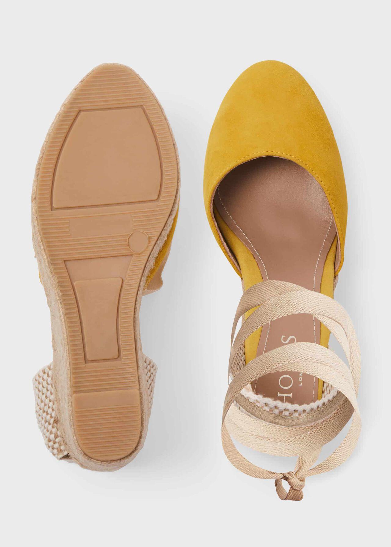 Trina Suede Wedge Espadrilles, Sunny Yellow, hi-res