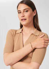 Sophia Chain Bracelet, Gold, hi-res