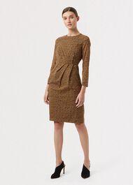 Silk Trina Dress, Chocolate Multi, hi-res