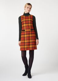 Christine Wool Dress, Orange Multi, hi-res