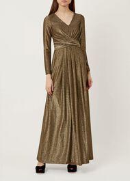 Charlize Maxi Dress, Gold, hi-res