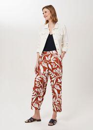 Lauren Printed Trousers, Brandysnap Ivry, hi-res