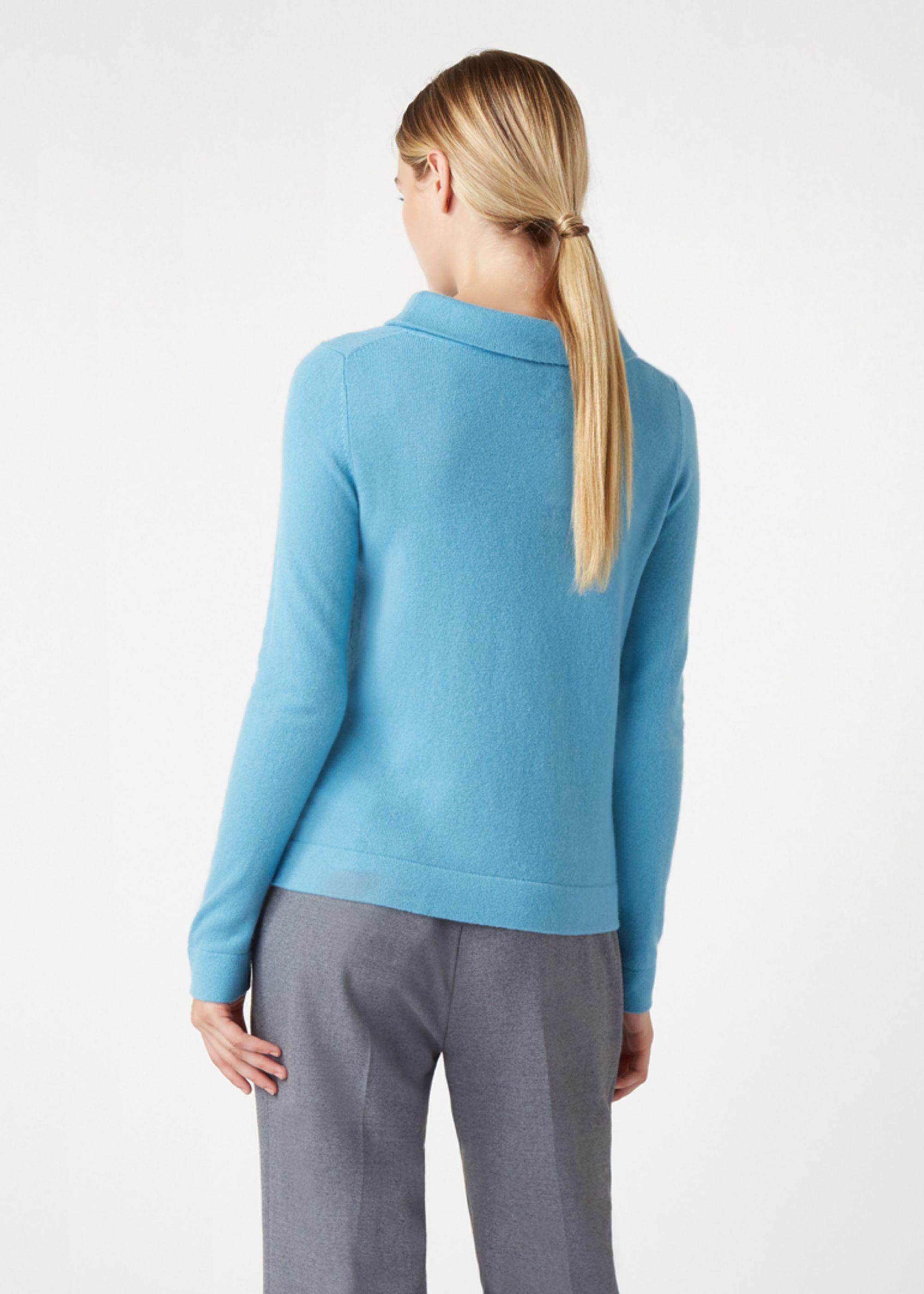 HOBBS Ladies Audrey Light Blue Wool Cashmere Roll Neck Jumper XL BNWT RRP85