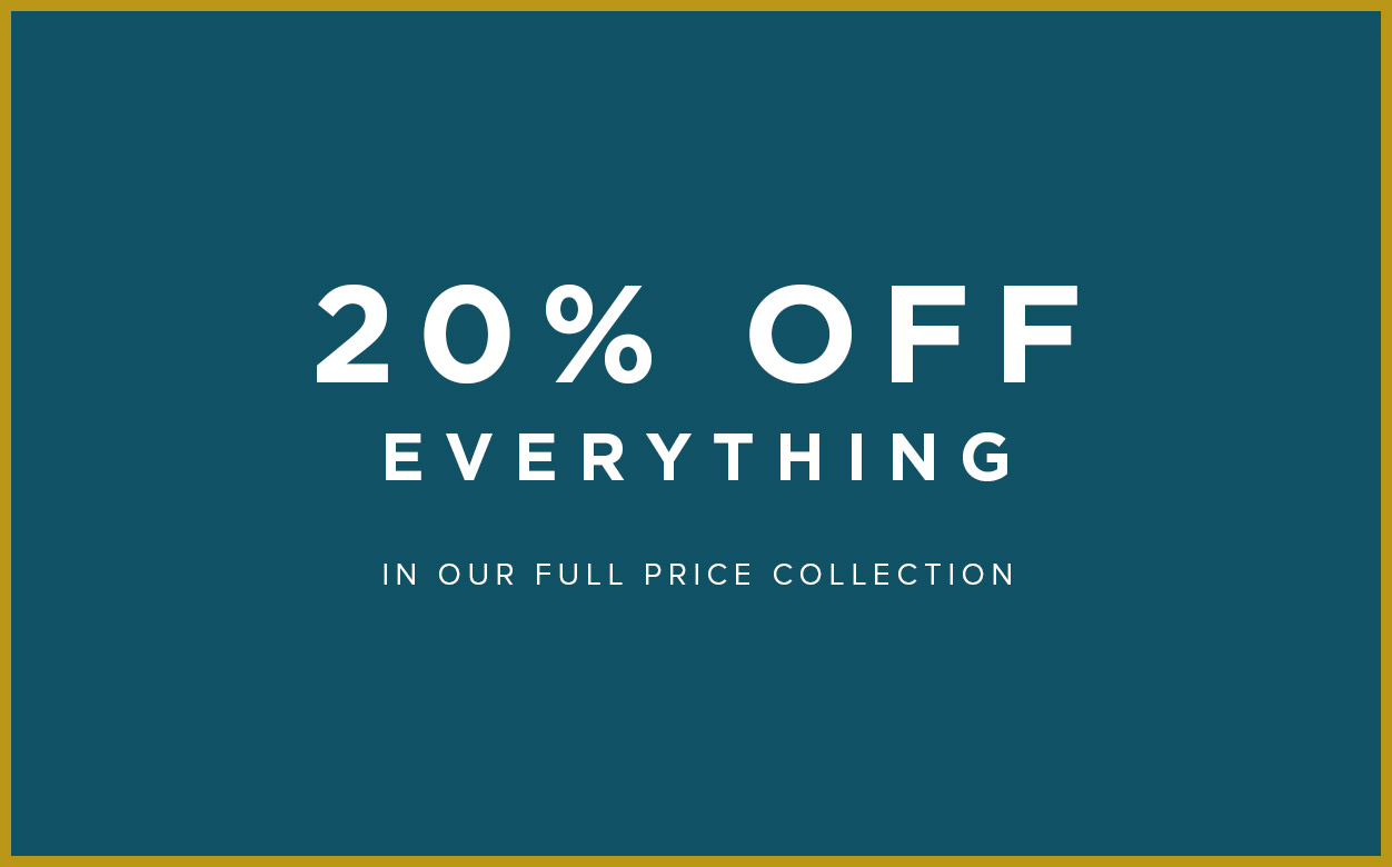 20% Off Full Price Shop Now