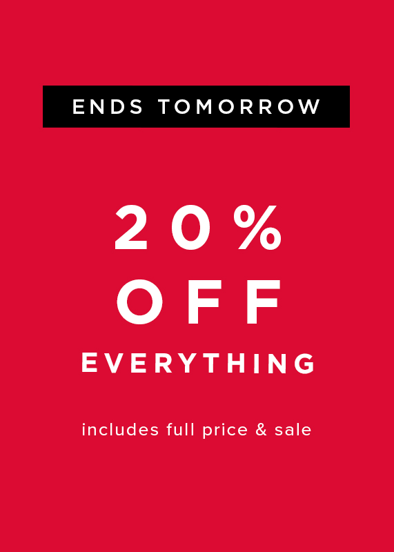 Hobbs Extra 20% Off Everything ends tomorrow