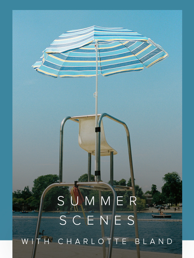 Photograph of a lifeguard stand at the Serpentine lido, captured by photographer Charlotte Bland.