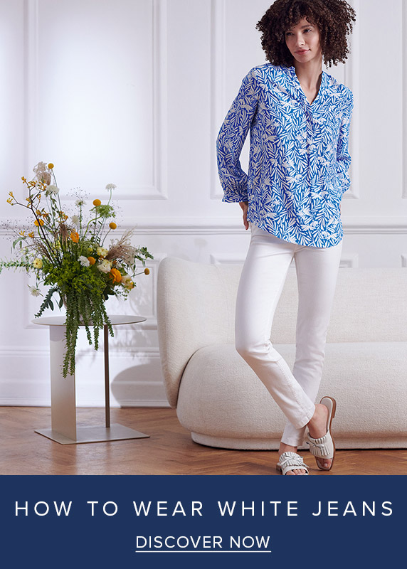 How To Wear White Jeans Editorial
