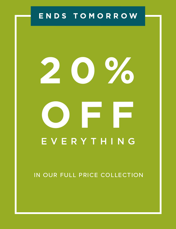 20 Percent Off All Full Price