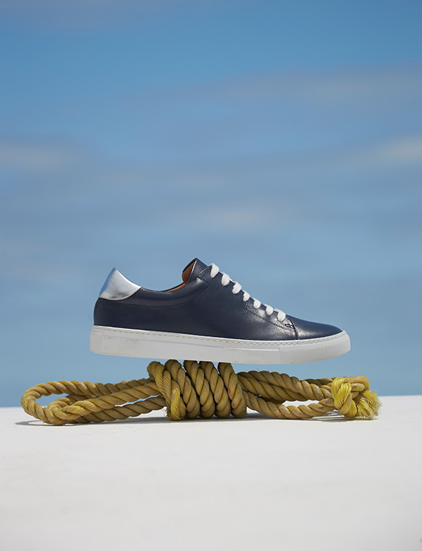 Blue Trainer on Rope Still Life