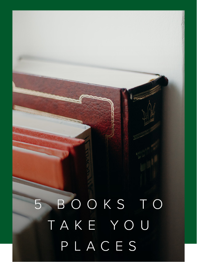 Close up photo of a shelf of books.