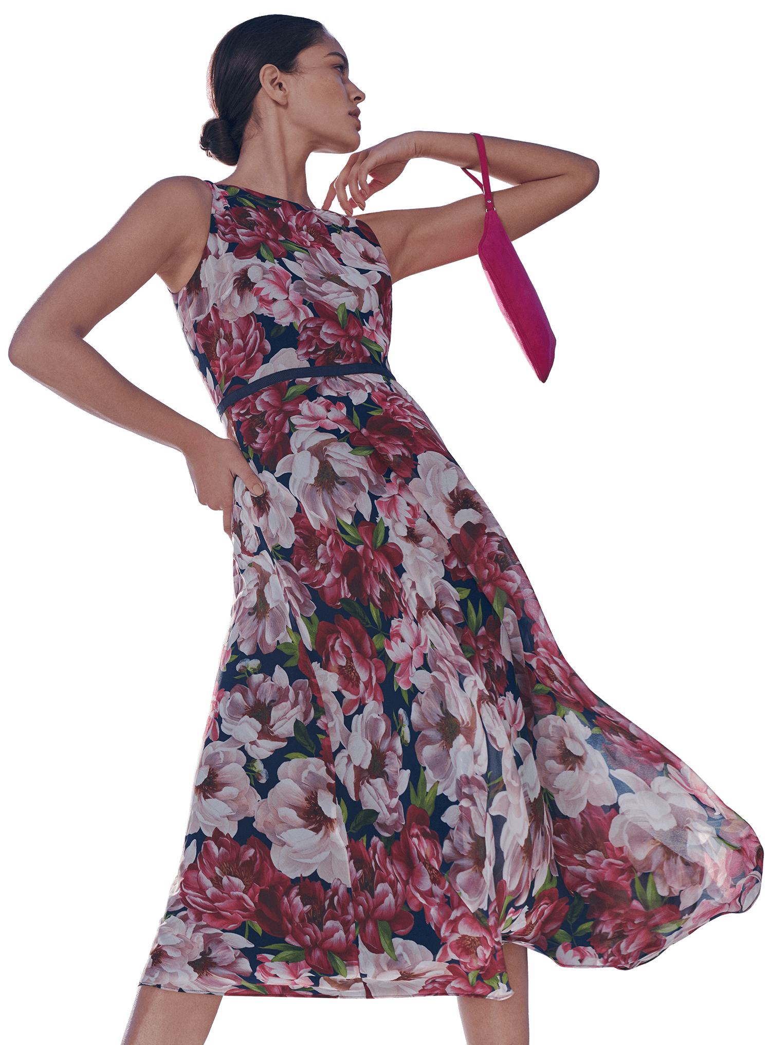 Floral Carly Occasion Dress and Sky