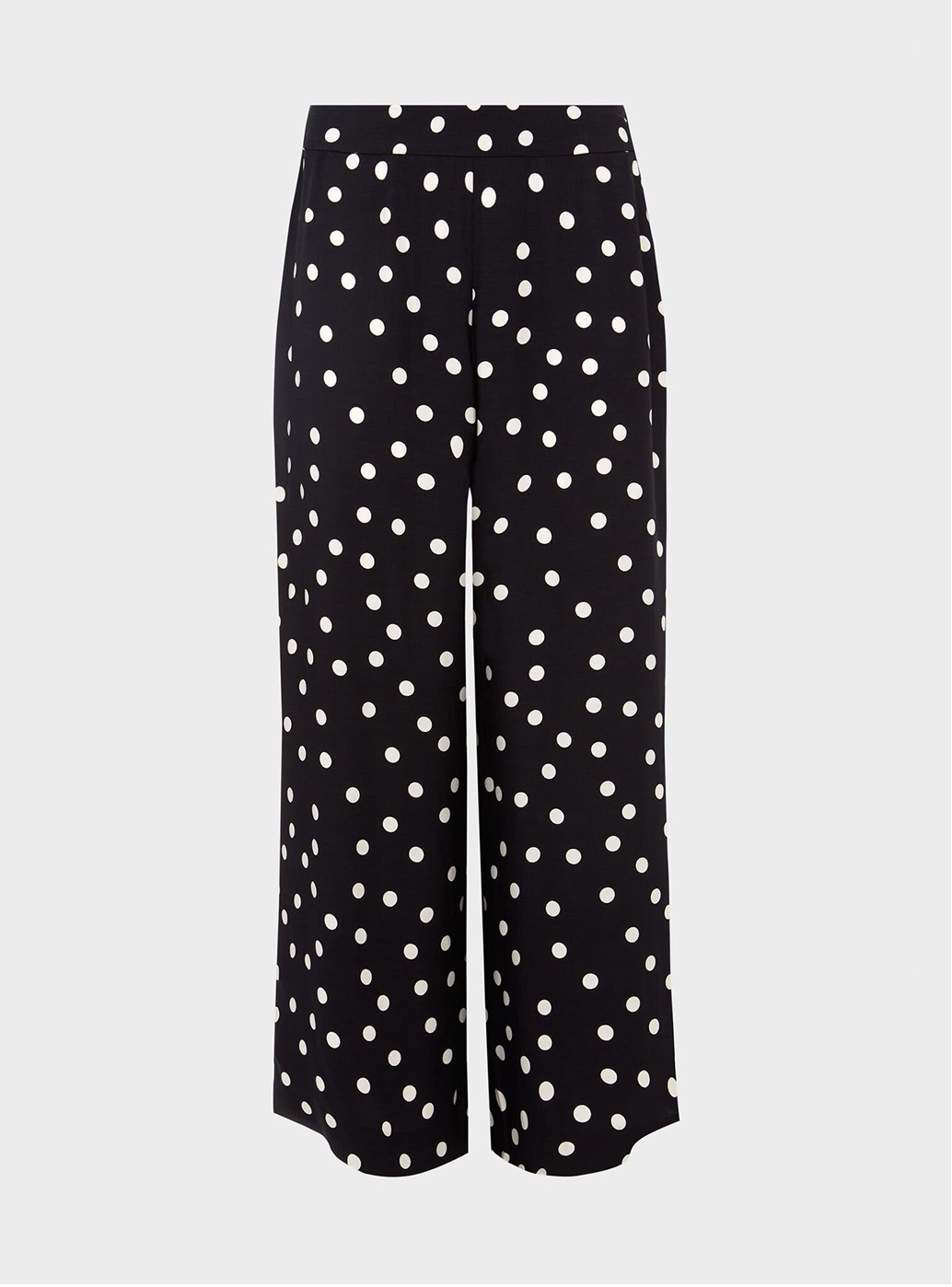 Hobbs Lauren Black and White Spotted Trousers