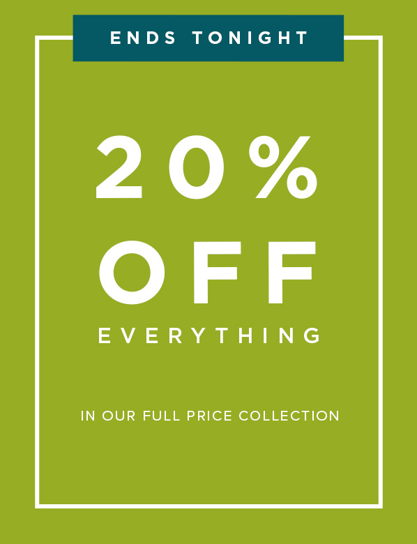 20 Percent Off All Full Price