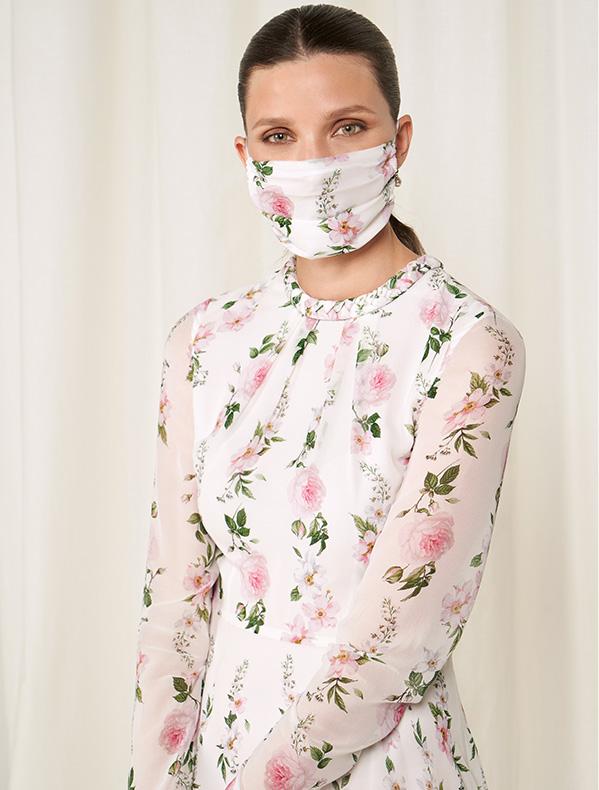 Hobbs Wedding Collection Floral Silk Face Mask