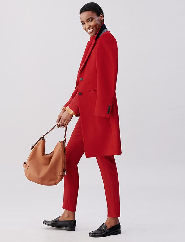Petite Red Tilda Coat