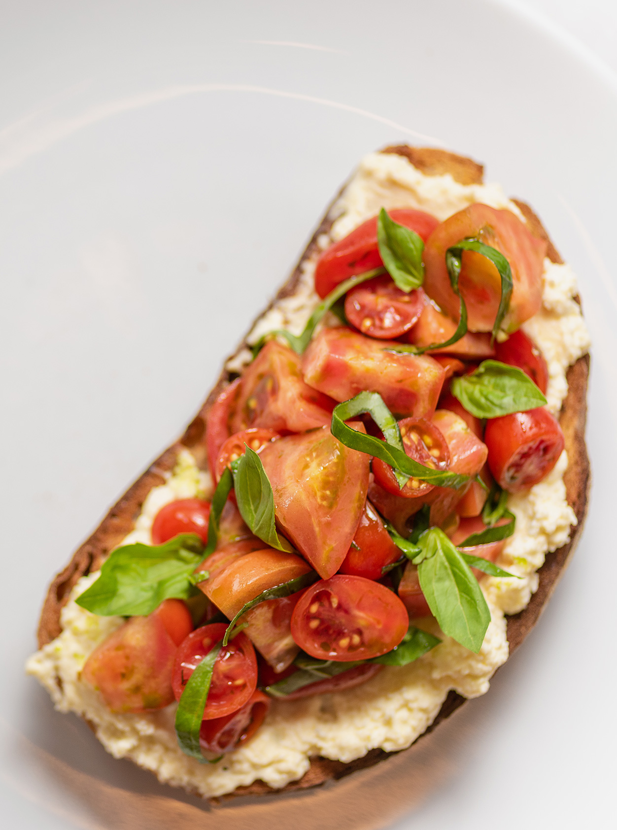 The perfect lockdown lunch, tomatoes and ricotta on toast from Ham Restaurant in London