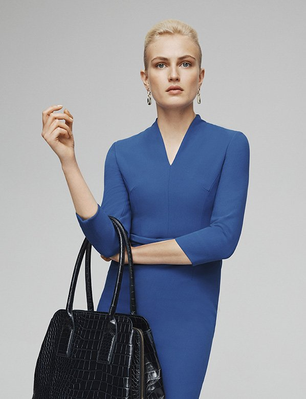 Blue Workwear Dress