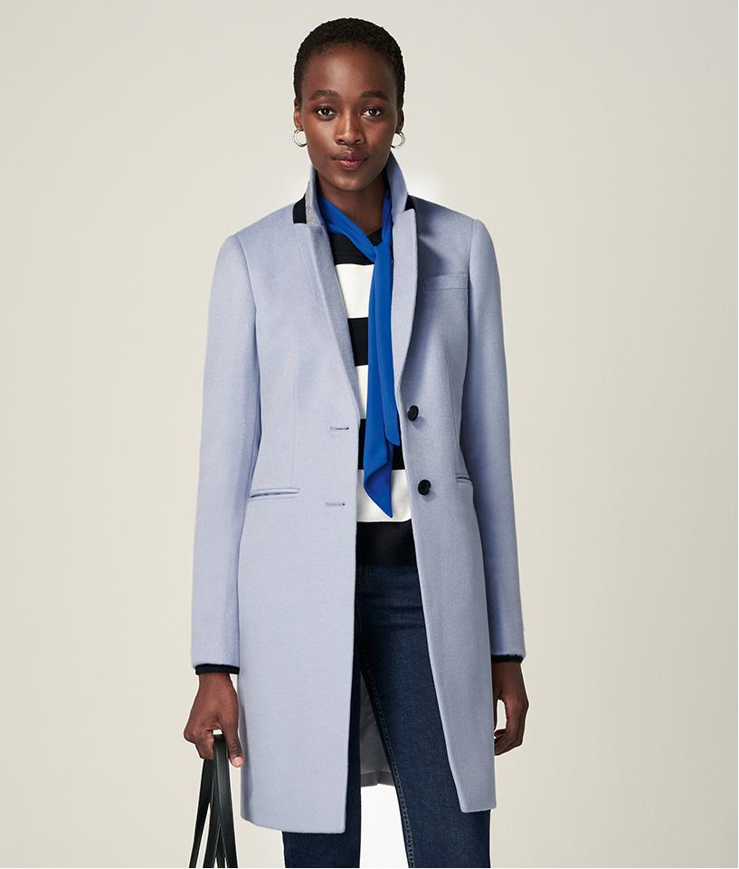 New In Pale Tilda Wool Coat
