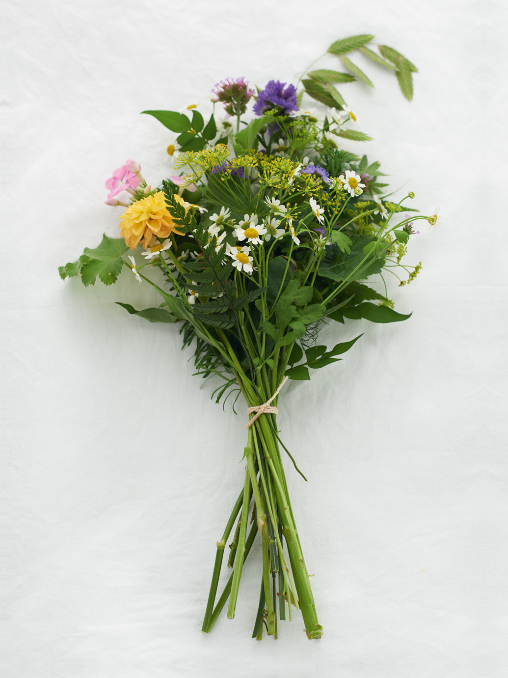 Show you care with a foraged bunch of flowers for a neighbour or family member during isolation.