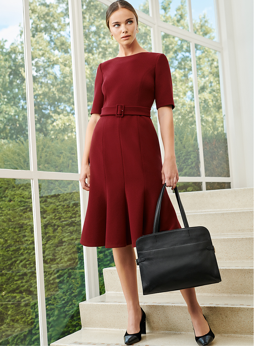 Sustainable Red Dress With Bag