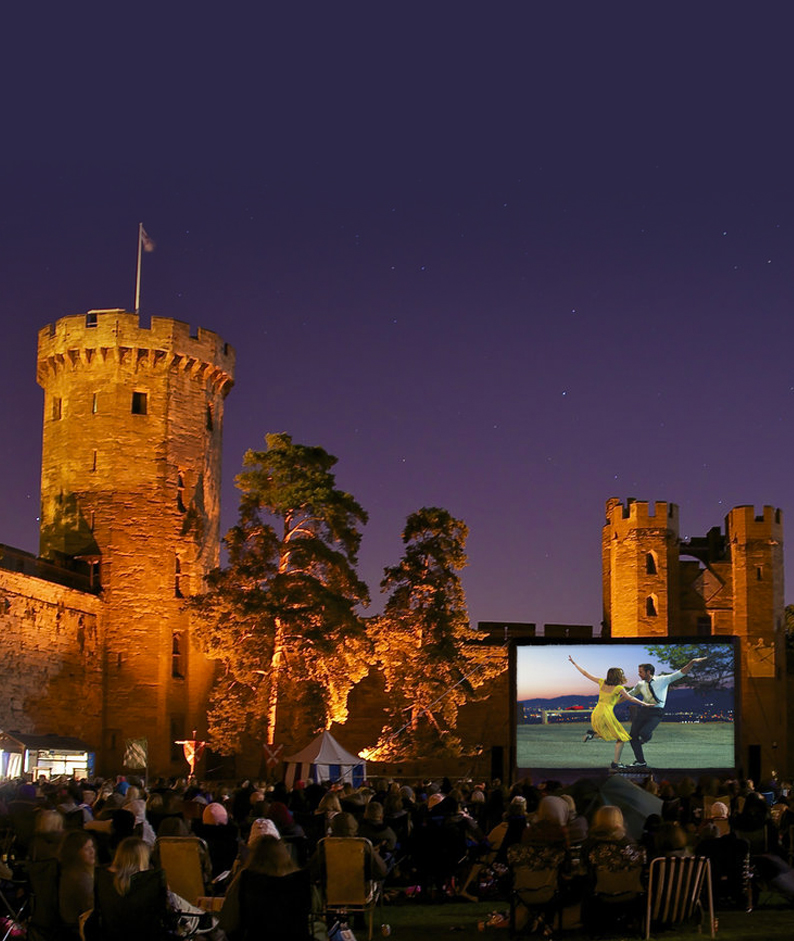 Watch oscar-winning film at a retro drive through set in the grounds of a castle