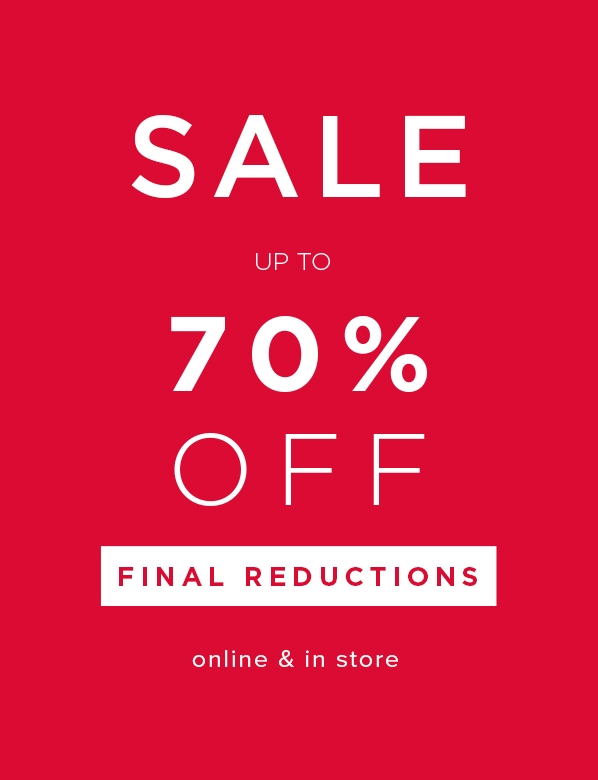 Sale Final Reductions.