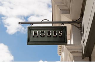 A Hobbs sign outside a Hobbs store.