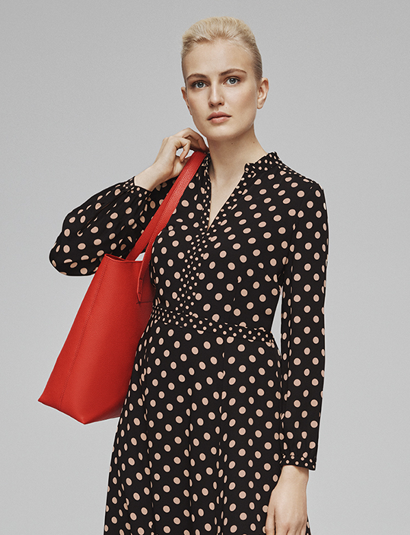 Hobbs women's fashion, polka dots.