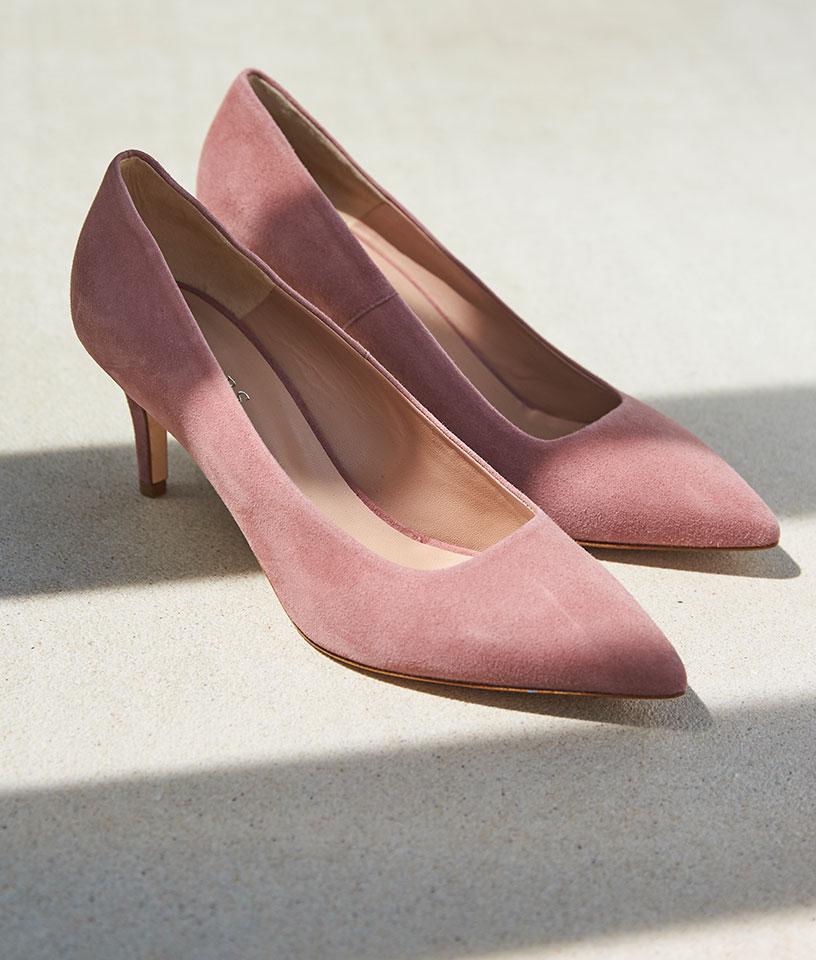 Pink Suede High Heels
