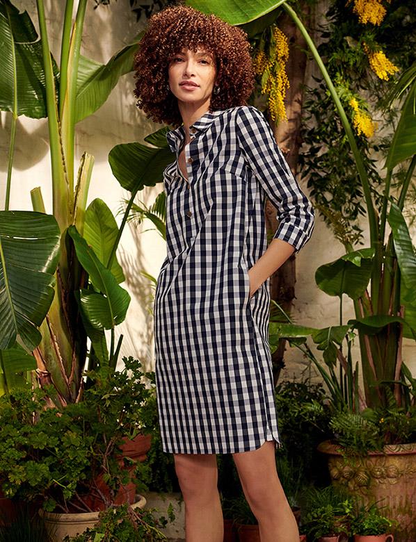Checked Summer Monochrome Tunic Dress