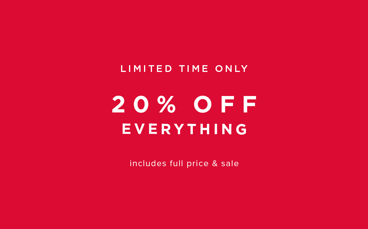 Extra 20% Off Everything